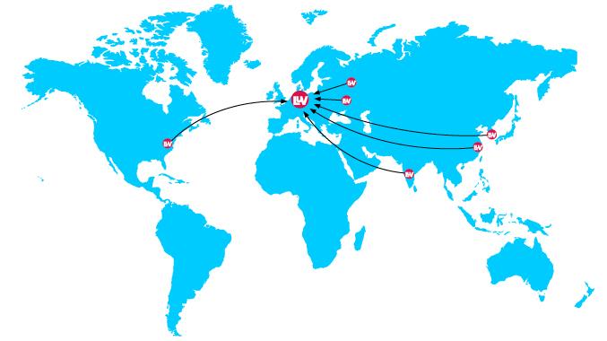 LUVOMAXX® – Lieferpartner weltweit